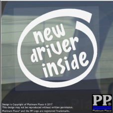 1 x New Driver Inside-Window,Car,Van,Sticker,Sign,Vehicle,Adhesive,Pass,Plus